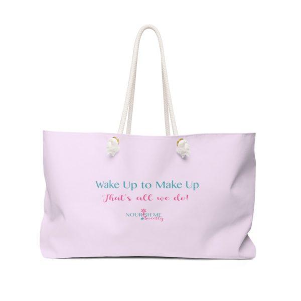 Wake Up to Make Up Weekender Bag in Pink