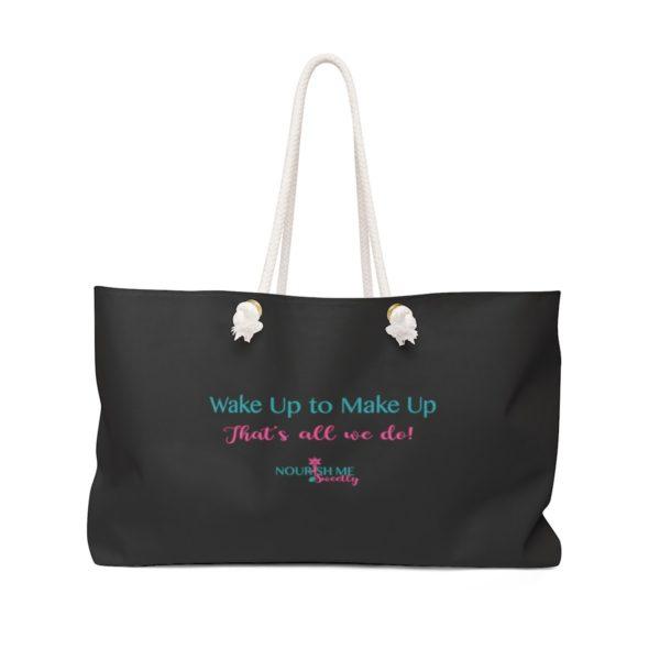 Wake Up To Make Up Weekender or Day Trip Bag in Black