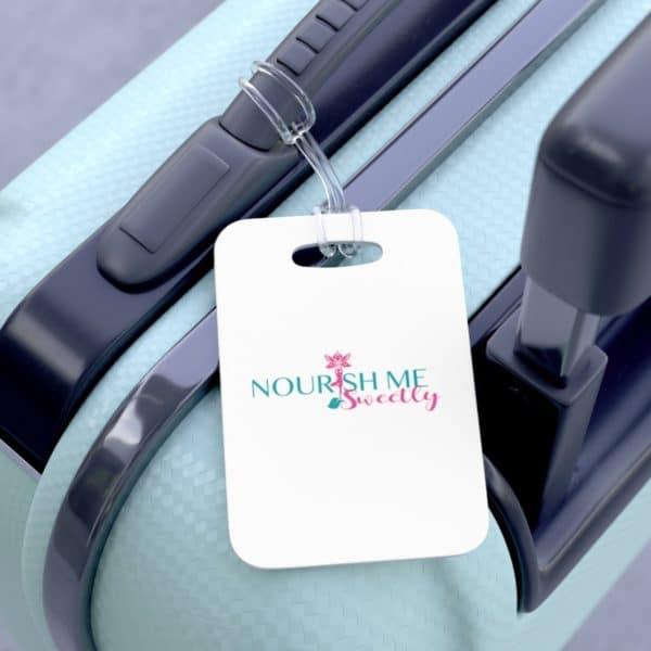 Nourish Me Sweetly Bag Tag in White