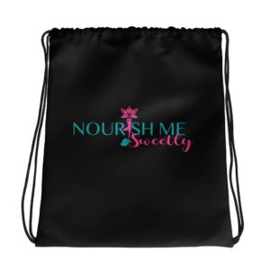 Nourish Me Sweetly Plain Drawstring bag
