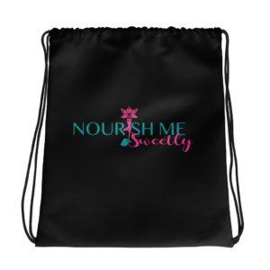 Nourish Me Sweetly Plain Drawstring bag