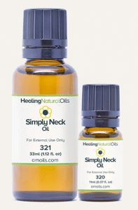 healing natural oil for tightening the neck